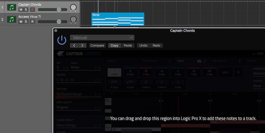Drag and drop clip to DAW