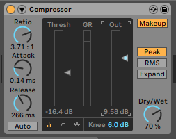 Compressor for Kicks